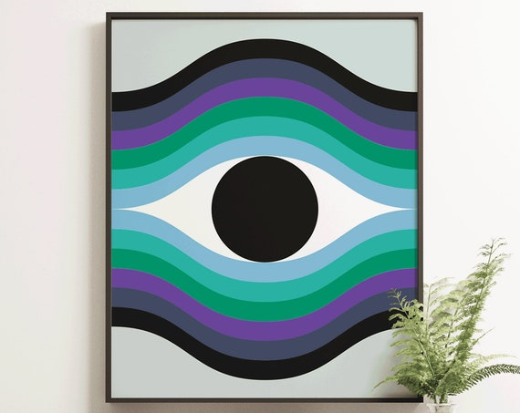 The Beholder - Retro Geometric Art Print
