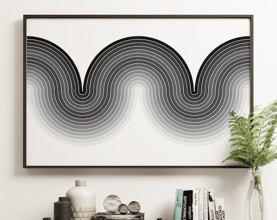 Apex Mono - Mod Curve Retro Style Art Print