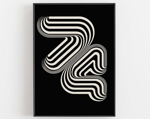 1974 - Typographic Retro Art Print (Metallic Paper)