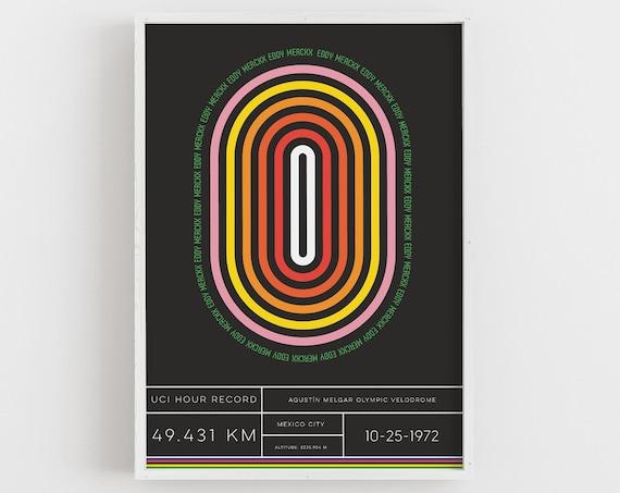 Fast Eddy - Minimal Cycling Print