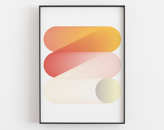 Rebound - A Bold Graphic Design Art Print by Deltanova