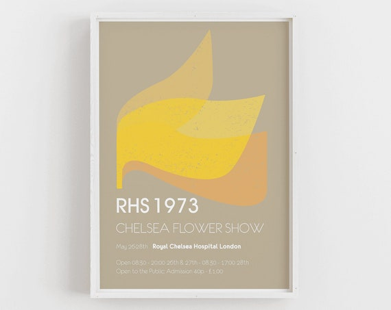 Chelsea Flower Show 1973 Vintage Style Poster
