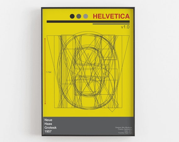 Helvetica - Graphic Design Art Print