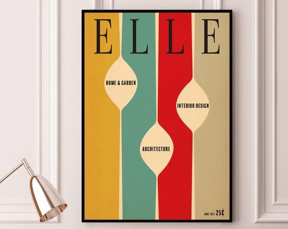1950's Style Mock Mid Century Modern style vintage art print poster