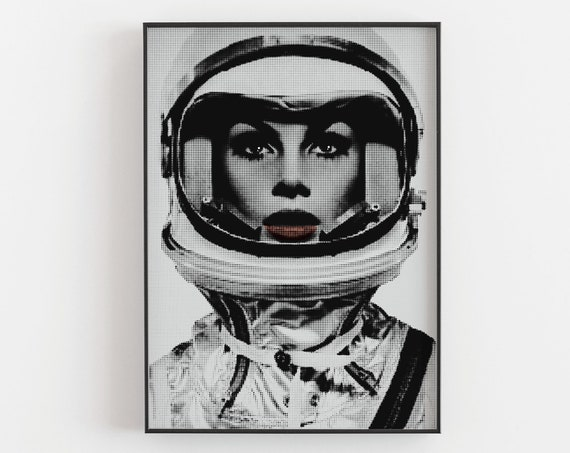 Faster than an Astronaut - 60s Space Age Atomic Fashion Print