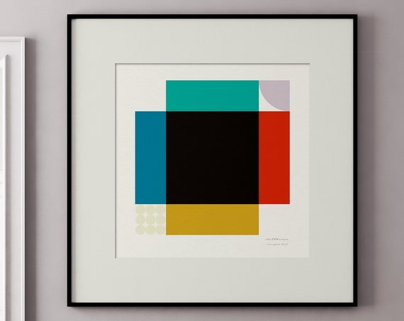 Colourfield - Series of Mid Century Style Square Art Prints