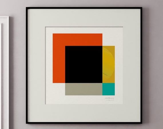 Suntrap - Part of a Series of Mid Century Style Square Art Prints