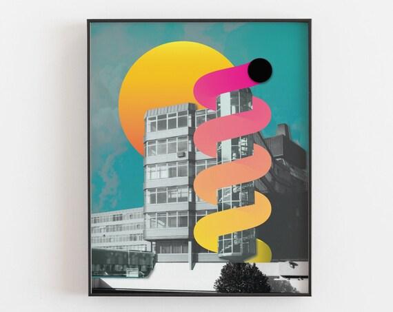 Anglia Square 1969 - Brutalist Architecture Print