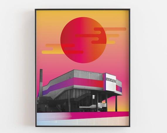 The Odeon 1989 - Architecture Collage