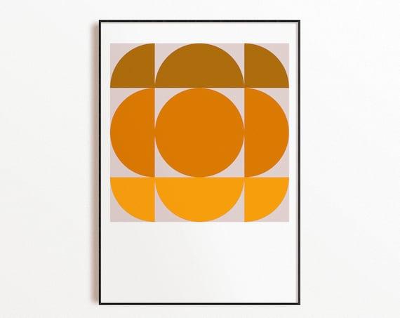 Hudson - Geometric Mid Century Modern Print