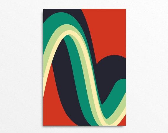 Wiggle - Bold Graphic Art Print
