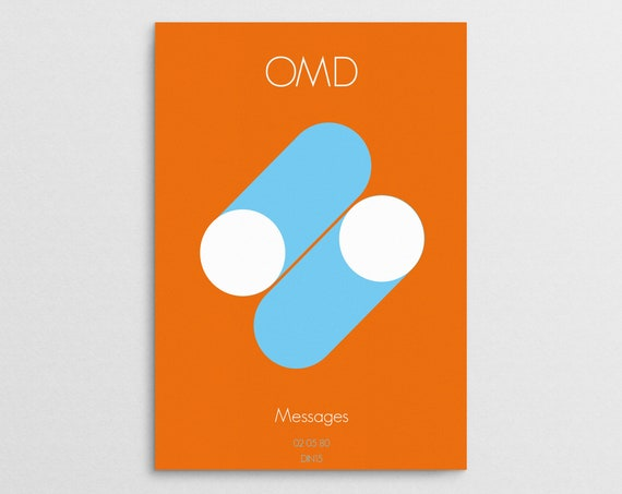 Messages - OMD Reimagined Ad Poster 1980