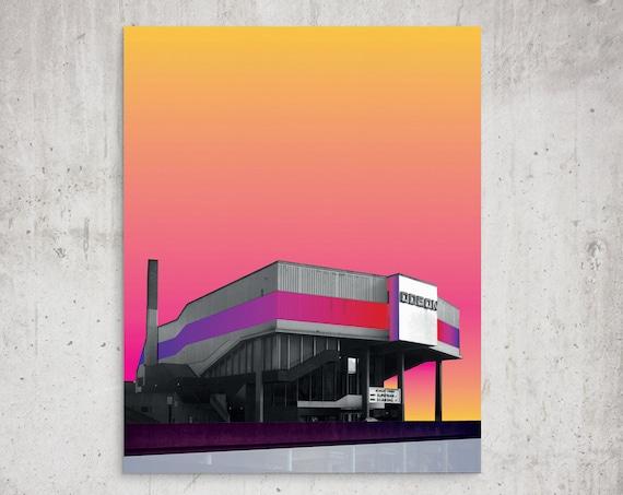 The Odeon 1989 - Anglia Square Norwich Architecture Print