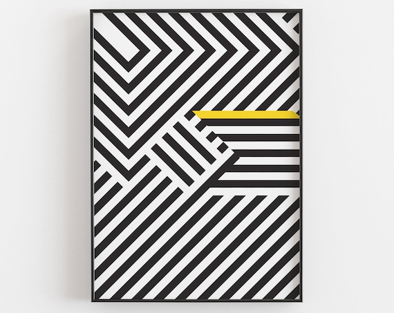 The Trap - Op Art Print