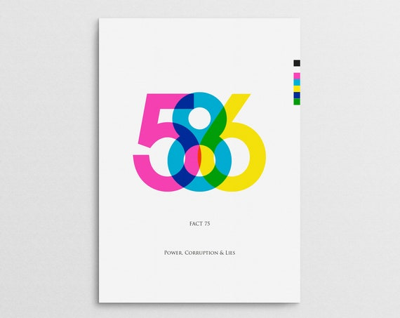 586 - New Order - Power, Corruption & Lies Poster (CMYK Edition)