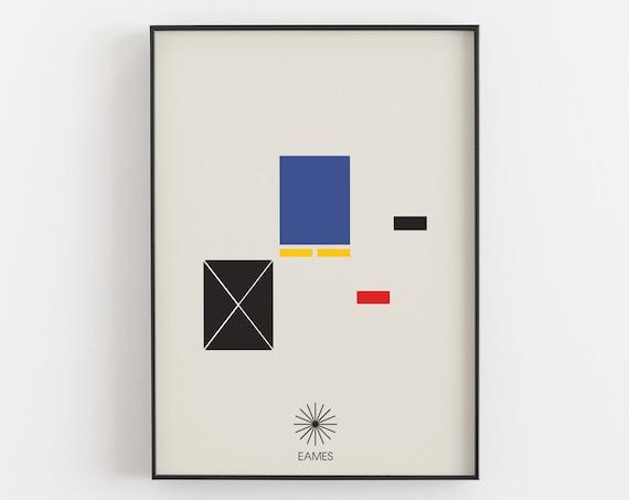 Eames House Minimal Art Print