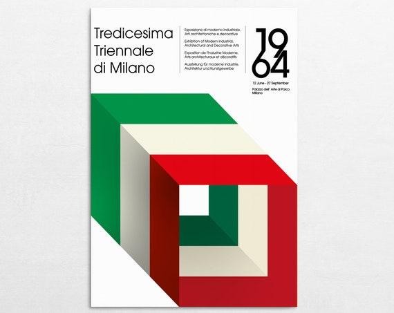 Milano 64 - Retro Expo Poster