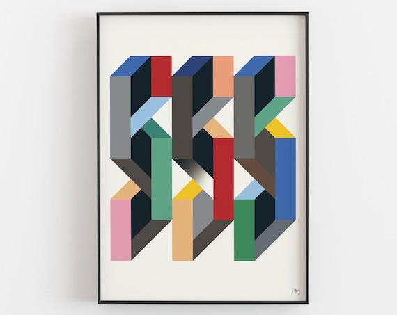 Machines for Living - Op Art Print