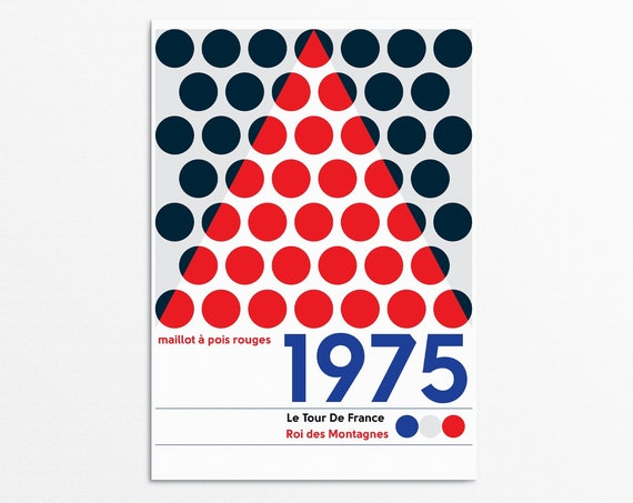 King of the Mountains - 1975 Tour De France Poster