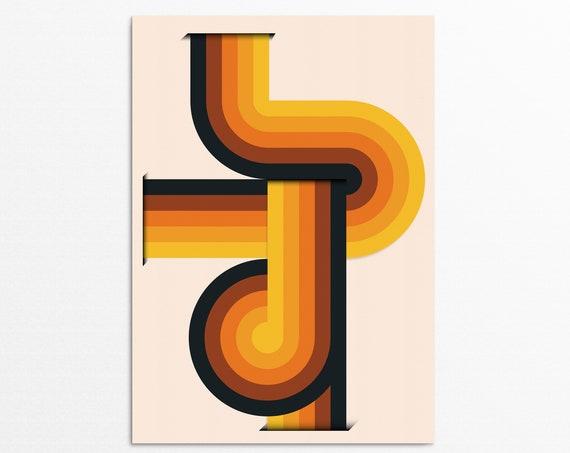 Imaginary Lines - Retro Art Print