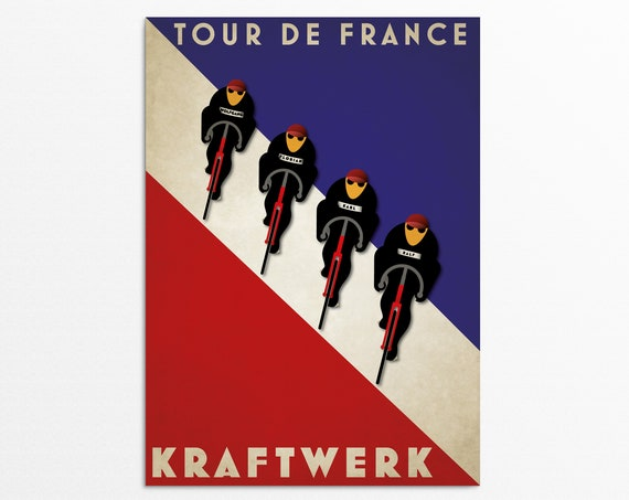 Tour De France - Art Deco Style Kraftwerk Art Print