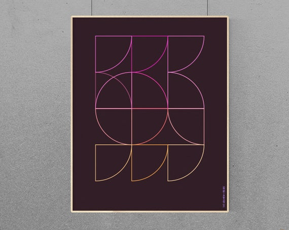 Geometry #4 Modern Geometric Graphic Design Art Print