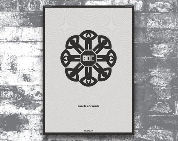 1970 - Boards of Canada and National Film Board of Canada mash-up art poster