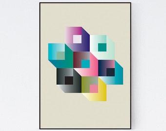 Geometric Bold Modern Graphic Design Art Poster