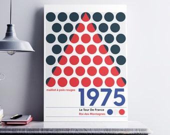 Roi de la montagne - rétro style affiche Cycling vélo -1975 Tour De France