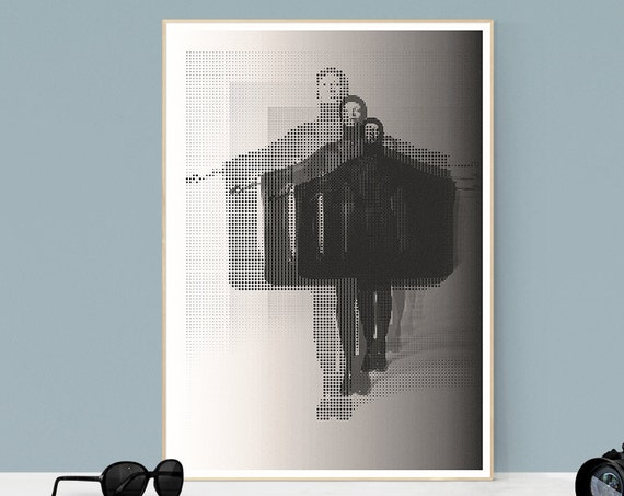 Feast - 60s Style Fasion Art Poster