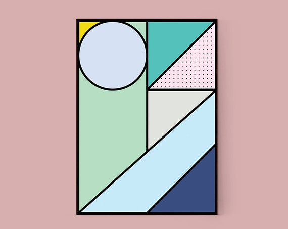 Shapes #1 Geometric Abstract Graphic Art Print