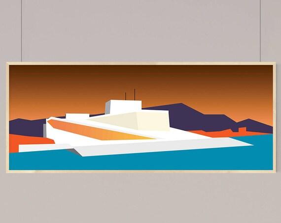 Architecture Illustration of Oslo Opera House