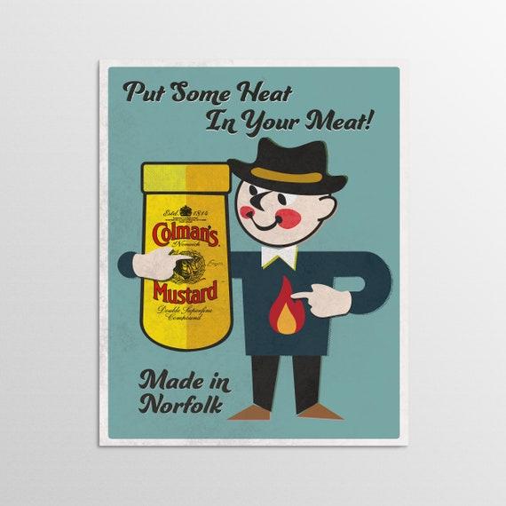 Mustard - Norfolk Retro Advertising Poster