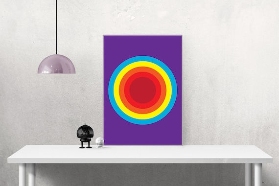 Target in Retro Colours - Graphic Design Poster Art  16x20 A2 Retro Abstract