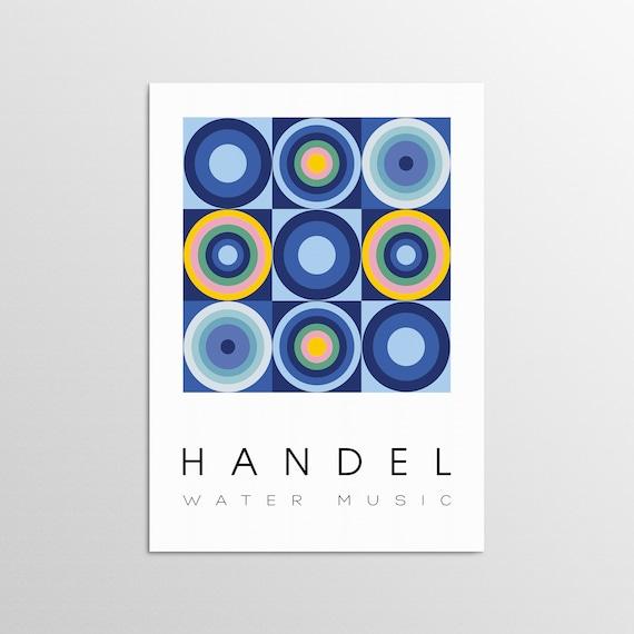 Water Music - Graphic Design Art Poster
