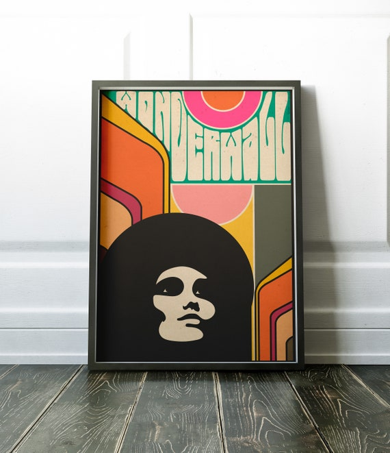 Wonderwall - Art Poster in a very 60s Hippy Psychedelic Style