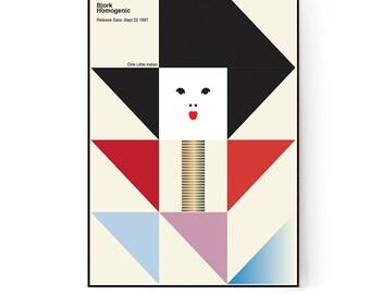Homogenic - Bjork Minimalist Geometric Recreation Art Poster