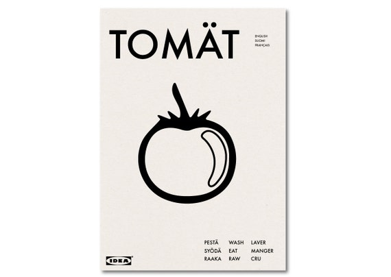 TOMAT - IKEA Parody Cafe Graphic Art Poster Typography