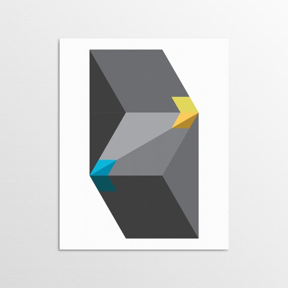 Triangle Folds - Bold Contemporary Art Print