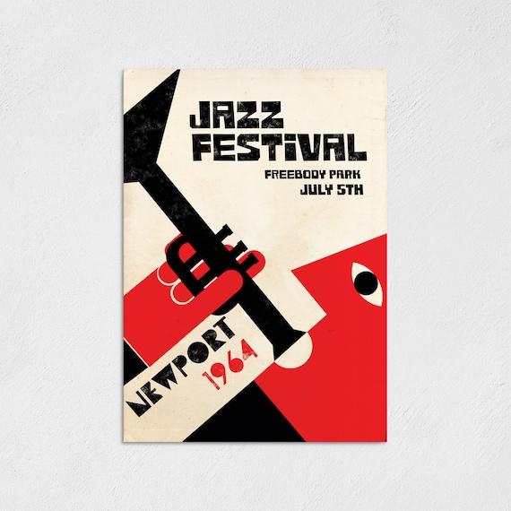 Newport 64 - Minimal Design Jazz Festival Poster