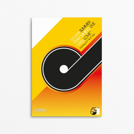 Floppy Disco - (Blood Orange Version) Retro Electronic Music (EDM) Poster