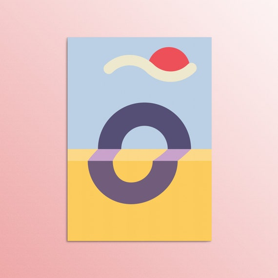 Contemplace - Minimal Zen Modern Art Print