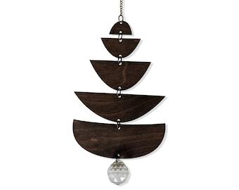 Sun Charm - Wood + Crystal Suncatcher - Angles Design