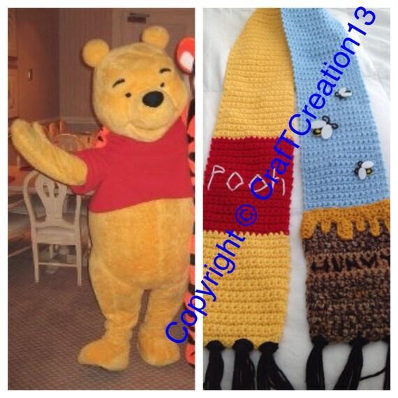 f3626ba4e14c Winnie the Pooh   Hunny Pot inspired Scarf