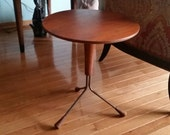 Midcentury Teak Tripod Side Table 1950s End Table Albert Larsson for Alberts of Sweden Danish Modern 4 Available