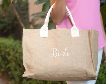 Bride Burlap Tote