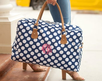 Polly Travel Bag, Large Personalized Weekender Bag