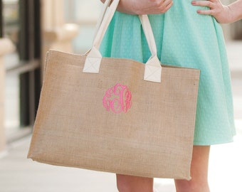 Burlap Tote,Personalized Burlap Tote Bag, Bridesmaid Tote, Mother's Day Gift