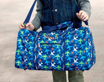 Take Flight Monogrammed Duffel Bag, Personalized Bag for Boys