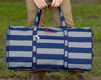 Greyson Monogrammed Duffel Bag, Personalized Bag for Boys
